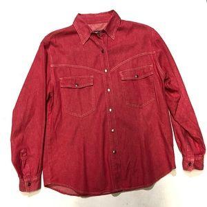 Harley Davidson Red denim washed shirt